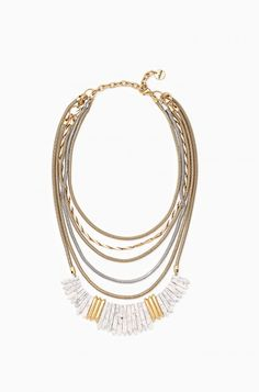 Ezra Statement Necklace, coming soon from Stella & Dot!  With 4 in 1 versatility, this neutral mixed metal statement is a must have finish-the-look for your wardrobe. Color beaded strands remove to mix and match to fit your style.