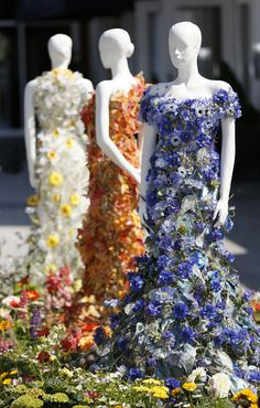 How about a dress made of REAL flowers?