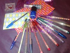 Decorated pens for cultural fair