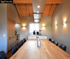 Conference Room, Furniture, Material, Home Decor, Kitchen Black, Timber Table, Kitchen Contemporary, Countertop, Dinner Table