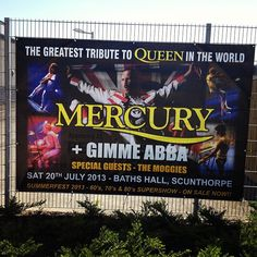 Check out our new banner for the Mercury show in July! #Scunthorpe