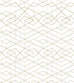 makelike (a shop) Range Wallpaper: Metallic Gold on Off-White