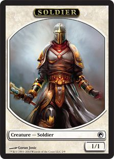 Soldier Token   Magic: The Gathering Card