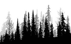Ideas pine tree tattoo geometric for 2019 Tree Line Tattoo, Tree Tattoo Arm, Natur Tattoo Arm, Natur Tattoos, Tree Silhouette Tattoo, Pine Tree Silhouette, Forest Silhouette, Forest Tattoo Sleeve, Sleeve Tattoos