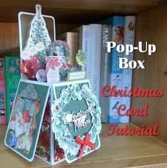 Make your own DIY Christmas pop-up box card shaped handmade greeting cards tutorial craft project papercraft Christmas Pops, Christmas Tree Toppers, All Things Christmas, Christmas Crafts, Box Cards Tutorial, Card Tutorials, Envelope Punch Board Projects, Christmas Card Images, Holiday Pops