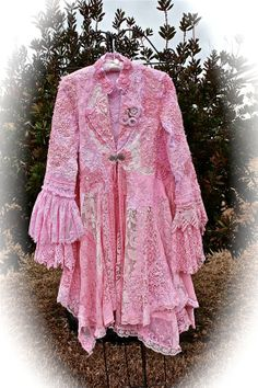 Romantic Shabby Lace Coat Marie Antoinette Tattered by IzzyRoo, $550.21