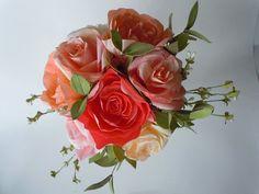 Hand Painted Paper Bouquet. $175.00, via Etsy.