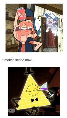Bill Cipher and Dipper Pines from Gravity Falls Gravity Falls Funny, Gravity Falls Comics, Bill From Gravity Falls, Disney Xd Gravity Falls, Gravity Falls Waddles, Gravity Falls Journal, Gravity Falls Bill Cipher, Fandoms, Dipper E Mabel