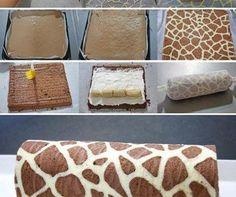 DIY Giraffe Swiss Roll Recipe