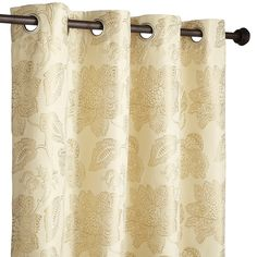 """Gold 84"""" Serene Floral Curtain"""