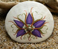 Painted Sand Dollar Artwork | love grows ~ painted sand dollar with a watch ... | Sea Glass ~ My Art
