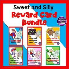 Sweet and Silly Classroom Reward Card Coupons Bundle School Resources, Teaching Resources, Classroom Reward Coupons, Motivational Activities, Silly Holidays, Health Lesson Plans, Math Challenge, Behavior Plans, Student Motivation