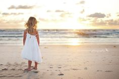 beach kids sunset dress sunrise