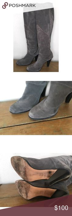 MICHAEL MICHAEL KORS SUEDE LEATHER GREY BOOTS 8.5 MICHAEL MICHAEL KORS SUEDE LEATHER GREY BOOTS 8.5 MICHAEL Michael Kors Shoes Heeled Boots