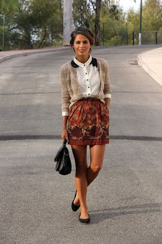 All About Fashion Trend » Skirt With Flowers – Fashionable Trend For This Season