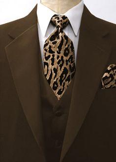 Leopard Tuxedo Print #leopardwedding