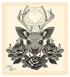 I want this deer tattoo.
