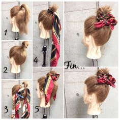 Causes Of Hair Falling Out Work Hairstyles, Scarf Hairstyles, Wedding Hairstyles, Hair Arrange, Hair Falling Out, Hair Dos, Hair Hacks, Her Hair, Hair Inspiration