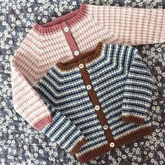 Image of StrikkeStreger Cardigan Og Hue 0 Mdr. til 2 År Knitting For Kids, Baby Knitting Patterns, Crochet For Kids, Knit Crochet, Baby Cardigan, Dress For Success, Baby Dress, Hue, Cute Babies