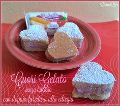 Cuori gelato senza lattosio con doppia farcitura alla ciliegia