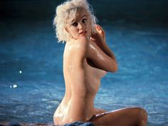 Lawrence Schiller & Billy Woodfield - Marilyn Monroe - 1962 - in Something's Got to Give - nude pool scene - set photo