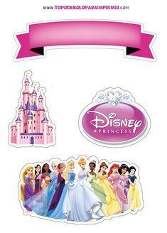Disney Princess Cupcakes, Princess Cupcake Toppers, Birthday Cake Toppers, Disney Birthday, Princess Birthday, Birthday Cake Decorating, Birthday Decorations, Bolo Barbie, Minnie Mouse Cake Topper
