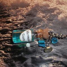 Mermaid Tears / Mini Glass Bottle Necklace