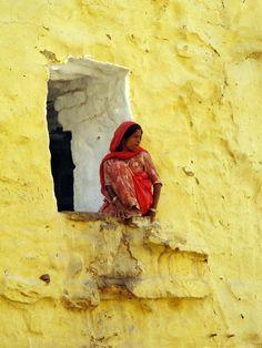 """Window"", by Hueystar.  Inside Jaisalmer Fort, Jaisalmer, Rajasthan, India."