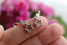 Cute, tiny star shaped earrings by Gallagher's Boutique on Etsy