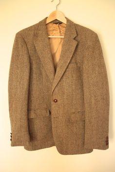 1970s Harris Tweed Sportcoat Vintage Men's by flickaochpojke