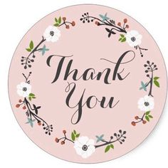 Thank You Images, Thank You Quotes, Business Envelopes, Business Stickers, Thank You Stickers, Thank You Cards, White Anemone Flower, Paper Supplies, Wedding Stickers