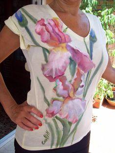 CAMISETA PINTADA A MANO 15€ Vestidos Pintados A Mano 62696851205