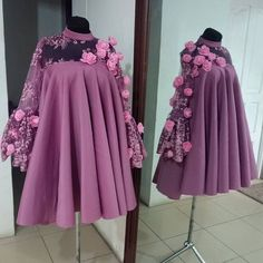 Luxurious Long Sleeves With Appliques , Short | prom dresses
