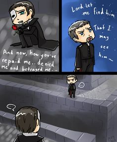 Javert: Dude this is my rooftop, get off! Erik: You will curse the day you did not.... get off of my rooftop! http://eclipcity.com