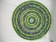 Seahawk Fabric Coiled RugPlacemat doily by QuiltingMyWay on Etsy