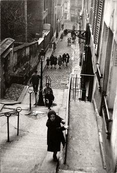 Montmartre en 1951 par Edouard Boubat.