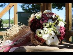 10 TL MALİYET İLE GELİN ÇİÇEĞİ YAPIMI (easiest, cheapest Bridal flowers) - YouTube