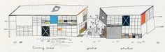 vía Charles and Ray Eames. Architectural Forum Aug 1950, 90 | RNDRD)