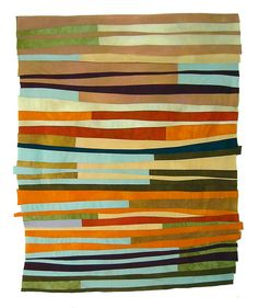 modern quilt with great colors