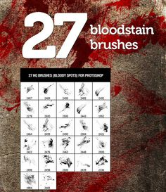 blood shaped brushes - so abject! Love it!