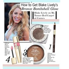 """How to Get Blake Lively's Bronze Bombshell Glow"" by kusja on Polyvore"