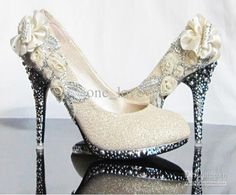 Wholesale - Sparkling Diamond 11cm Heels Waterproof Prom Evening Party Dress Lady Bridal Wedding Shoes R-3, Free shipping, $56.68-64.90/Piece, 1 piece/Lot | DHgate.com
