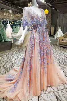Custom Made Evening Dress Lace Evening Dress Prom Dresses 2019 Evening Dress Long Unique Evening Dress Champagne Prom Dresses Unique Prom Dresses, A Line Prom Dresses, Tulle Prom Dress, Pretty Dresses, Sexy Dresses, Wedding Dresses, Elegant Dresses, Long Dresses, Dress Lace