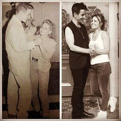 "Joey from ""New Kids On The Block"" and Candace Cameron Bure from ""Full House"" and ""Fuller House"", then and now."