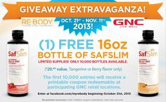 GNC – FREE 16oz SafSlim Coupon – 1st 10,000