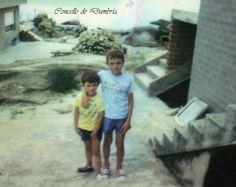 """Jose """"o mudo"""" e seu irmán Vicente en O Ézaro. Cedida por Ezaro.com"""