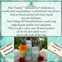 Green Tidings All Natural Deodorant Truly Aluminum-Free!