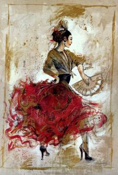 Flamenco costume.
