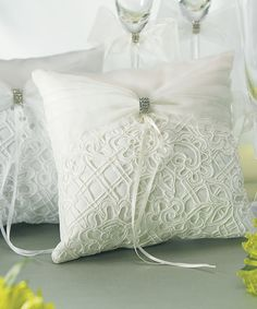 Wedding ring pillow..