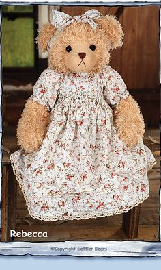 Inverell  Collection  - Rebecca    Settler Bears - Leading The World in Dressed Bears